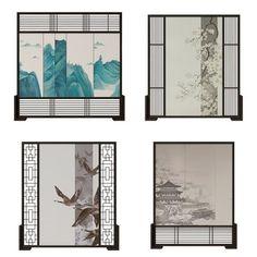 新中式屏风隔断- 建E网3d模型分享交流平台-3d模型下载-3d模型下载网站 Tea Station, Home Repair, Art Studios, Gallery Wall, Chinese, Space, Detail, Interior, Projects