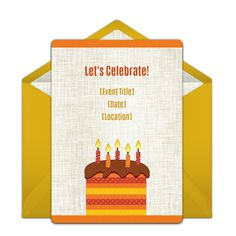 Love this free birthday cake invitation for Fall birthdays!