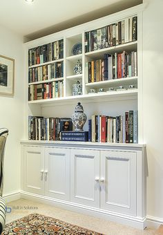 Image result for built in cupboards and shelves in living room