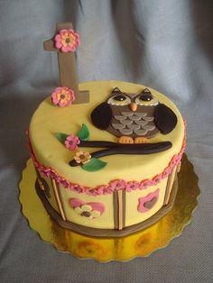 Owl birthday cake — Children's Birthday Cakes