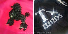 Talking Trash & Wasting Time: Free printable T-BIRD, PINK LADIES & POODLE stencil
