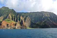 #Travel #GettingLostInHI #NaPali #Coast #Kauai #HI #SRphotography The coastal tour was a great way to spend the early evening. The lighting was amazing!