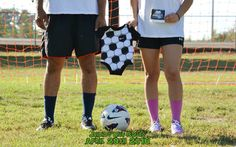 Me and Andres' soccer themed pregnancy announcement