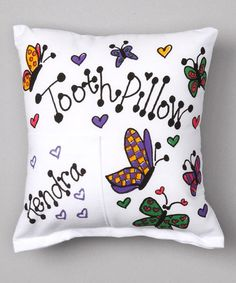 Take a look at this Bunnies and Bows Butterfly Personalized Tooth Pillow by Bunnies and Bows on #zulily today!