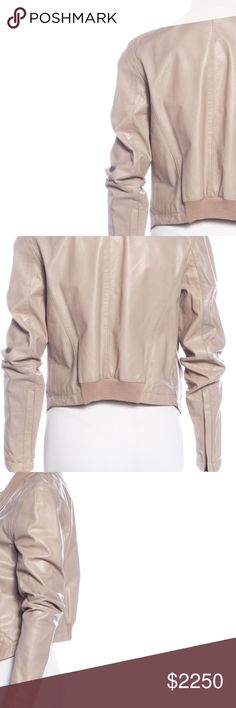 Leather GIVENCHY Moto Bomber Jacket Always Authentic🌸 Taupe/ rose rude leather double zip high-low bomber moto jacket by GIVENCHY. Trendy yet classic: if you love Saint Laurent & Balenciaga, this is for you! I love this but I think I'm ready to find a new home for this baby. Size 42 (8/10): I am a size 4/6 and wore this oversized intentionally w/everything from dresses to jeans. NO TRADES EVER!! **COMING SOON: will upload better styled pics when I have time!** Givenchy Jackets & Coats