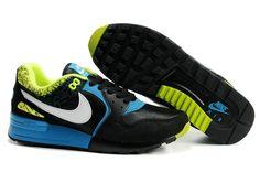 344082 011 Nike Air Pegasus 89 Black White Glass Blue Volt AMFM0258
