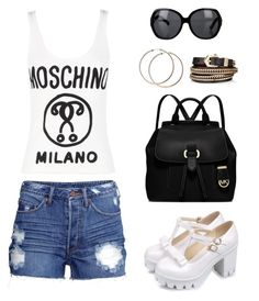 """Untitled #1098"" by gallant81 ❤ liked on Polyvore featuring H&M, Moschino, MICHAEL Michael Kors, Givenchy and Chanel"