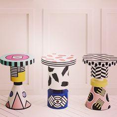 pop art memphis stools by annakarlin ny via chiccham