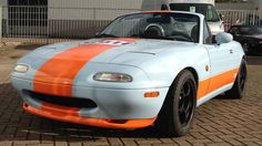 Our mx5/ miata in gulf livery
