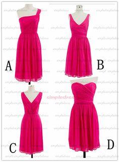 hot pink prom dresses, cheap bridesmaid dresses, dresses for prom, prom dresses on Etsy, $69.00
