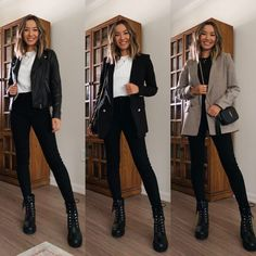Combat Boot Outfits, Winter Boots Outfits, Combat Boots Style, Winter Fashion Outfits, Look Fashion, Jeans And Boots, Casual Outfits, Boots For Winter, Combat Boots Dress