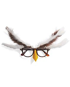 Quick Owl Glasses Costume    This eyeglasses-based costume is fast, fun, and sufficiently understated for the self-conscious. Attach a yellow beak to brown eyeglasses frames, and then brown and ivory feathers near the hinges of the frames. via #MarthaStewart