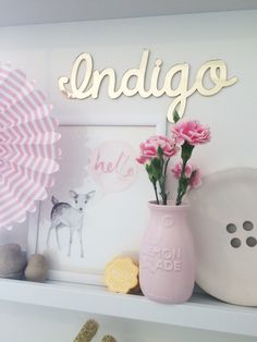 This gorgeous mirror name plaque is by Arlo and co! You can find them on Instagram http://instagram.com/arloandco