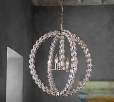 Stacked Crystal Chandelier | Pottery Barn for Walk-in Closet!