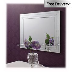 Large Glass Frame 'Clean' Mirror 120x80cm [EE733a] - �119.00 - Mirrors for Every Interior from Exclusive Mirrors