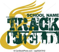 Distressed track and field team design with wings for school, college or league. Tiger Shop, Bulldogs Team, Coaches Wife, School Spirit Shirts, Track Meet, Basketball Drills, Spirit Wear, Screenprinting, Track And Field
