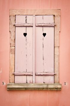 coastalcottage:  Window With Wooden Shutters by Jacinthe Brault  <3
