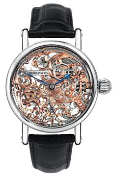 As refined as a vintage-inspired timekeeper can possibly get, the new Chronoswiss Zeitzeichen is a perfect example of what can be done to a good old Unitas Men's Watches, Dream Watches, Fine Watches, Luxury Watches, Cool Watches, Devon, Watch Engraving, Limited Edition Watches, Skeleton Watches