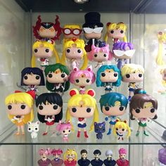 Trying to figure out how (or even if) to incorporate the mini pop keychains into my display. The keychain part annoys me a bit. Keep or remove? Theyre in the bottom first row Funko Pop Display, Doll Display, Mini Funko Pop, Vinyl Figures, Action Figures, Sailor Moon Merchandise, Funko Pop Anime, Up Halloween Costumes, Mini Arcade