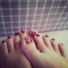 CNY nail art by me