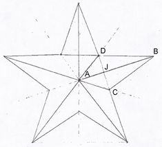 A 3 dimensional 5 pointed star