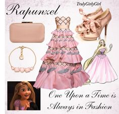 """Disney Style: Rapunzel (Disney Princess Designer Collection)"" by trulygirlygirl ❤ liked on Polyvore"