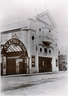 The roller-skating rink and Olympia Electric Theatre, Northgate, Chichester