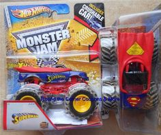 2013 hot wheels superman mud monster jam truck super man 164 scale