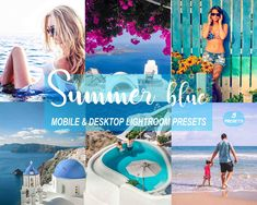 Summer Blue Mobile and Desktop Lightroom Presets, Blogger Style, Blue Sea Photo Filter Sea Photo, Edit Your Photos, Black And White Pictures, Photo Backgrounds, Lightroom Presets, Photo Editing, Blogger Style, Photoshop, Vacation