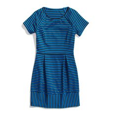 Stitch Fix Winter Essentials: The perfect striped dress that's work appropriate and happy hour-approved.