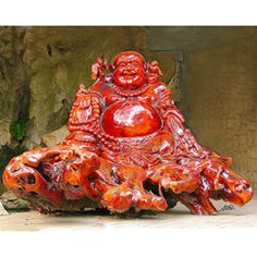 Stewart Parr 'Guilin China - Red Buddha Rock Carving' Photo Print