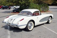 1958 Corvette C1: Snowcrest White with hardtop. I'll take one. You go find it for me...