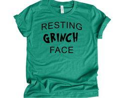 aa1ab483e3 Resting Grinch Face Funny Christmas T Shirt Unisex Christmas Shirt - Fat  Duck Tees Mens Christmas