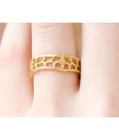 FAN CORAL WEDDING BAND   Corals, Ocean, Hawaii, Ring, Weddings, Bride, Bands, Ring, Gold   UncommonGoods