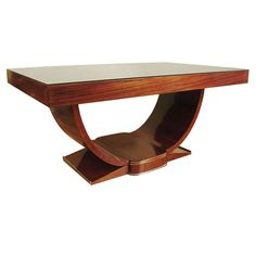 french art deco rosewood dining table from a unique collection of antique and modern dining art deco rosewood dining