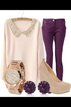 Cute Sunday brunch outfit!