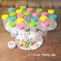 20 Pill Bottles Candy JARS Happy New Pastel Caps Party favors 3814 DecoJars USA #DecoJars
