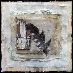page by roxanne evans stout, photo by Seth Apter Mixed Media Collage, Collage Art, Textiles, Tea Bag Art, Encaustic Painting, Painting Abstract, Acrylic Paintings, Paperclay, Mini Canvas