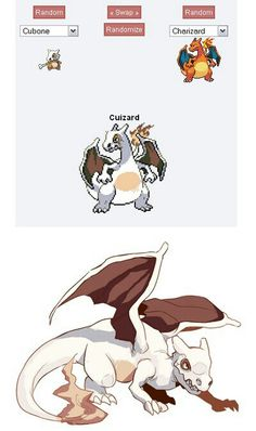 Pokémon Fusion: Cubone + Charizard = Cuizard