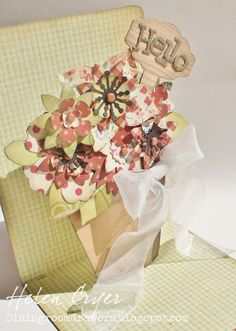 The Dining Room Drawers: Sizzix Pop 'n Cuts Flower Pot 'Hello' Card