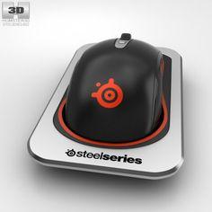 SteelSeries Sensei Wireless Laser Mouse 3D Model .max .c4d .obj .3ds .fbx .lwo…
