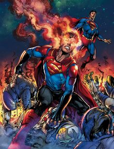 When Superboy travels to the future of DC's Universe, he discovers Clark Kent isn't the only hero to call himself Superman - or the greatest! Dc Heroes, Comic Book Heroes, Comic Books Art, Superman News, Batman Vs Superman, Superman Stuff, New 52, Lois Lane, Arte Dc Comics