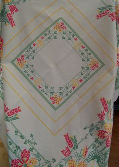 Vintage Table Linens Retro Tablecloth Retro by HopeisHipofMaine