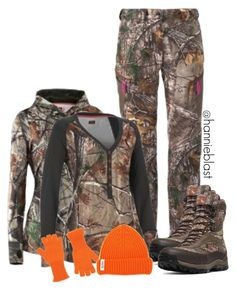 """White Tail Deer Hunting"" by hannieblast ❤ liked on Polyvore featuring Under Armour, Realtree, MRZ and Danner"