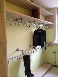 Trendy Ideas for walk in closet storage diy laundry rooms Master Closet, Closet Bedroom, Walk In Closet, Closet Space, Home Bedroom, Bedroom Decor, Closet Storage, Diy Storage, Standing Closet