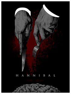 "Hannibal - ""Bon Appetit"" - Hanzel Haro ---- HERO COMPLEX GALLERY PRESENTS: ""IMAGINED WORLDS; The Imagined Worlds of del Toro, Gilliam, Kubrick, Lynch & Scott"""