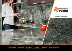 Acercamiento a un granito con destellos, ideal para la cubierta de la cocina. #granitospuente #recubroenpiedra