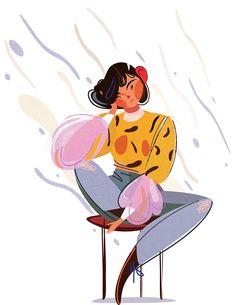 Illustration Art Drawing, People Illustration, Portrait Illustration, Character Illustration, Graphic Design Illustration, Digital Illustration, Graphic Art, Doodles Bonitos, Character Art