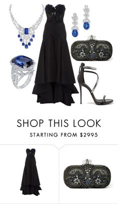 """Без названия #12341"" by zhebiton ❤ liked on Polyvore featuring Marchesa and Giuseppe Zanotti"