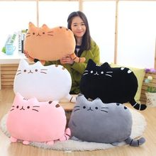 1 pcs 40*30cm plush toys stuffed animal doll toy pusheen Kawaii Brinquedos Pusheen cat Pillow Biscuits Kids Toys Peluche(China (Mainland))